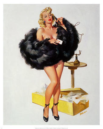 pin up girls art. Pin-Up Girl on the Telephone Art Print by Joyce Ballantyne